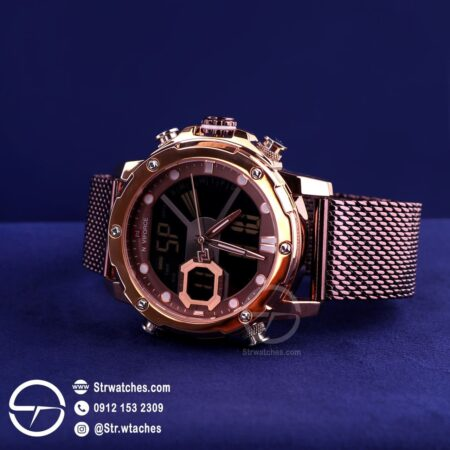ساعت مچی مردانه ترکیب عقربه ای دیجیتال نیوی فورس اورجینال مدل NF9172